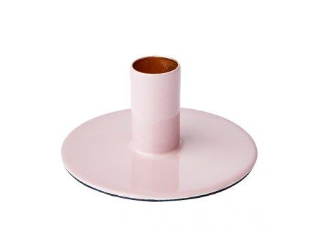 Affari Kerzenhalter RIVER Rosa Kerzenständer aus Metall Rund 10 cm für 1 Kerze  Affari of Sweden Modell Nummer 797-263-44
