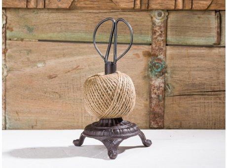 Affari of Sweden Vintage Deko Objekt Schere Schnurhalter aus Metall und Faden 15 cm hoch