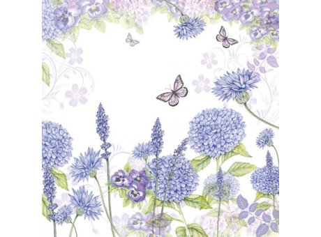 Ambiente Servietten Purple Wildflowers