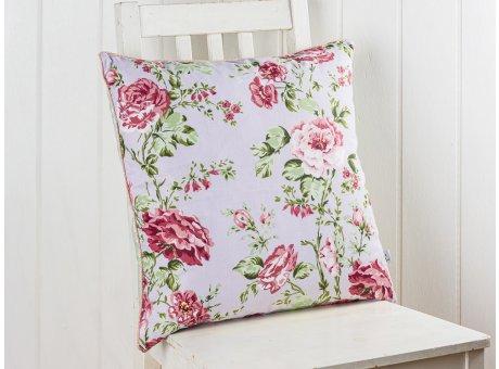 AU Maison Kissen Sophia Blumen Rosenmuster und Streifen in Mint Weiß 50x50 cm Zierkissen mit Füllung Vorderseite