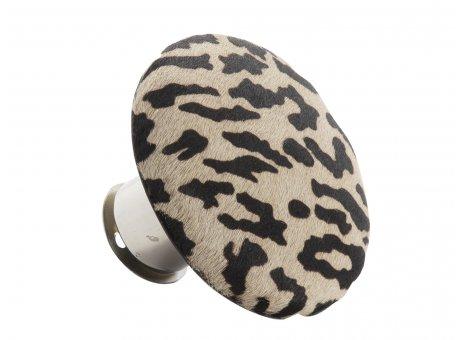 AU Maison Kleiderhaken Tiger Fell Design runder Garderobenhaken getigert im Art Deko Stil 9 cm