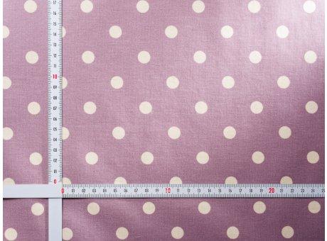 AU Maison Wachstuch Dots Big Misty Rose Tischdecke Stoff Meterware aus Baumwolle beschichtet große Punkte Altrosa 140 cm breit zum selber nähen