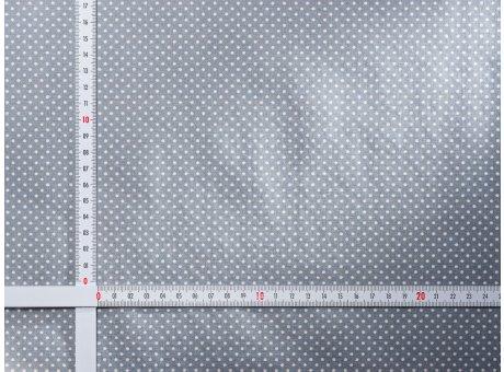 AU Maison Wachstuch Dots Dusty Blue Tischdecke Stoff Meterware aus Baumwolle beschichtet kleinePunkte Staubig Blau 140 cm breit zum selber nähen