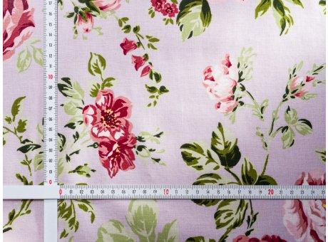 AU Maison Wachstuch Sophia Dusty Violet Tischdecke Stoff Meterware aus Baumwolle beschichtet staubig lila mit Blumen 140 cm breit zum selber nähen