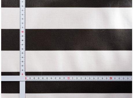 AU Maison Wachstuch Stripe Giant Almost Black Tischdecke Stoff Meterware aus Baumwolle Beschichtet Schwarz Weiß Streifen 140 cm breit