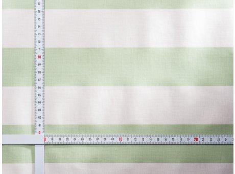 AU Maison Wachstuch Stripe Giant Dusty Mint Tischdecke Stoff Meterware aus Baumwolle Beschichtet Grün Weiß Streifen 140 cm breit
