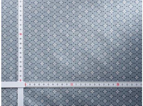 AU Maison Wachstuch Yasmin Dusty Blue Tischdecke Stoff Meterware aus Baumwolle beschichtet Staubig Blau gemustert 140 cm breit zum selber nähen