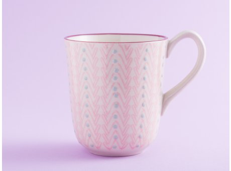 Bloomingville Becher MAYA Keramik Geschirr Tasse 360 ml Kaffeebecher rosa