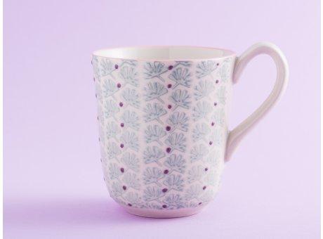 Bloomingville Becher MAYA Keramik Geschirr Tasse 360 ml Kaffeebecher türkis