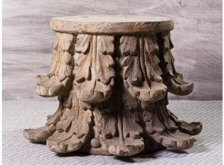 Bloomingville Beistelltisch Chateau rund extravaganter Tisch aus Metall Antikes Design ca 45 cm hoch 67 cm Durchmesser max