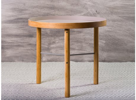 Bloomingville Beistelltisch Tea Coffee Table grau Holzbeine 60 cm