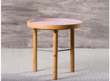 Bloomingville Beistelltisch Tea Sidetable rosa Holzbeine 40 cm