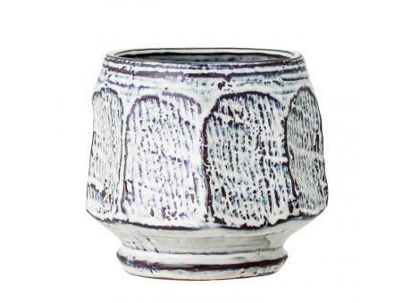 Bloomingville Blumentopf Blau Weiß 15 cm Keramik Übertopf Artikel Nr 82048964
