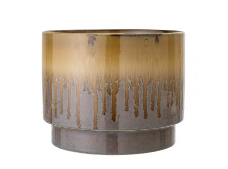 Bloomingville Blumentopf Braun Grau 22 cm Keramik Übertopf Artikel Nr 21253144