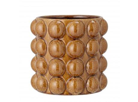 Bloomingville Blumentopf DEIA Braun 22x23 cm extra gross Keramik Punkte Design Bloomingville Pflanztopf Nr 82052597