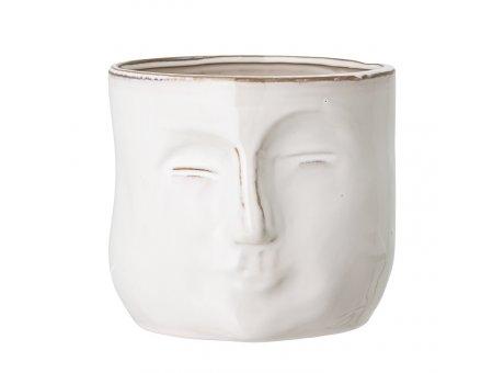 Bloomingville Blumentopf Gesicht Weiß 18 cm Keramik Übertopf Artikel Nr 82048963