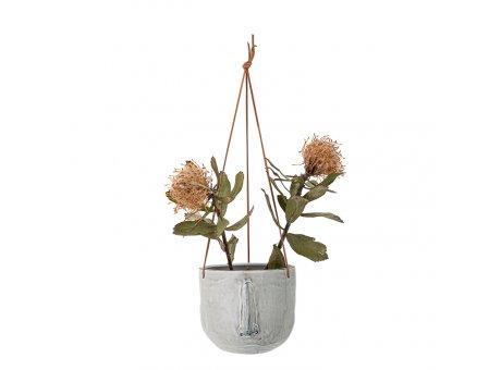 Bloomingville Blumentopf Hänger Nase Grau 17 cm Keramik Übertopf hängend Nr 82048983