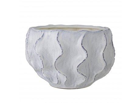 Bloomingville Blumentopf LIREN Weiss Blau 23x36 cm extra gross Keramik Bloomingville Pflanztopf Nr 82052527