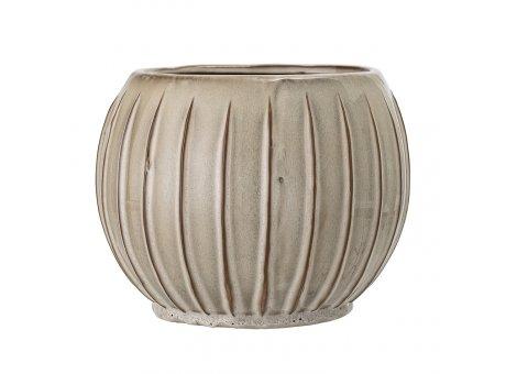 Bloomingville Blumentopf Natur Streifen 17 x 22 cm Keramik Übertopf Produkt Nr 21255690