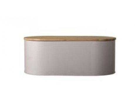 Bloomingville Brotkasten braun oval aus Metall mit Deckel 33 cm