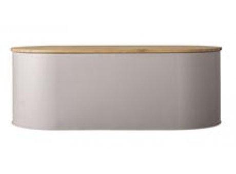 Bloomingville Brotkasten braun oval aus Metall mit Deckel 43 cm groß