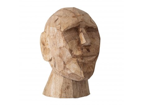 Bloomingville BÜSTE Skulptur Braun Gesicht Deko Figur Mango Holz geschnitzt 24cm Unikat handgemacht Bloomingville Produkt Nummer 82048060