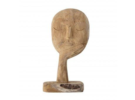 Bloomingville BÜSTE Skulptur Braun Gesicht mit Hand Deko Figur Holz geschnitzt 35 cm Unikat handgemacht Bloomingville Produkt Nummer 82048080