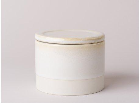 Bloomingville Carrie Dose mit Deckel aus Keramik Geschirr Serie in creme beige Vorratsdose 300 ml Inhalt