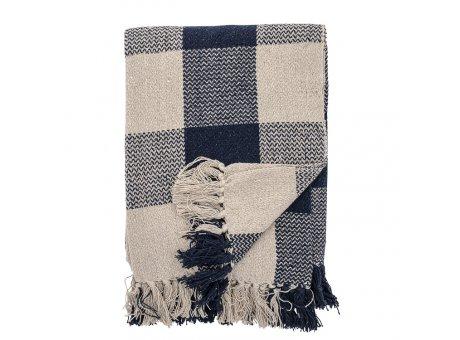 Bloomingville Decke Blau Kariert Recycelt Baumwolle Throw 125x150 cm Artikel Nr 82049443