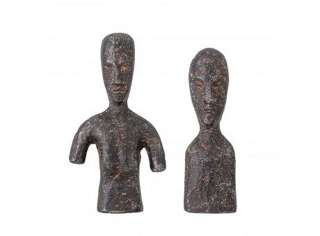 Bloomingville Deko Figur RHEA Braun Metall 2er Set Büste Bloomingville Skulptur Nr 82052545