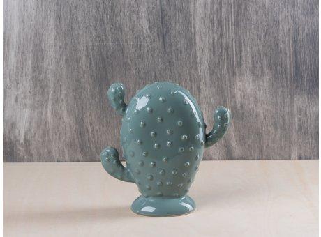 Bloomingville Deko Kaktus grün 17 cm hoch passend zur Jade Geschirr Kollektion