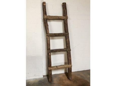 Bloomingville Deko Leiter XXL aus Holz 213x66 cm aus recyceltem Holz rustikales Unikat