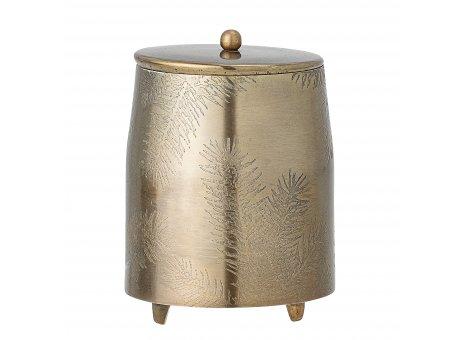 Bloomingville Dose JOLEE mit Deckel Gold 14,5 cm Vorratsdose Metall rostfrei Bloomingville Deko Nr 82050588