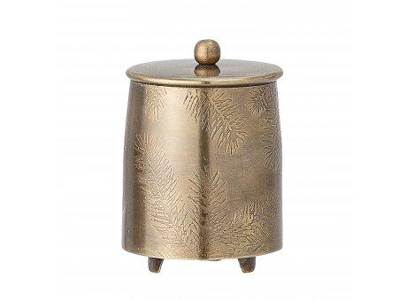 Bloomingville Dose JOLEE mit Deckel Gold 6x6 cm Vorratsdose Metall rostfrei 150 ml Bloomingville Design Nr 82052803