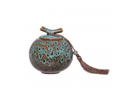 Bloomingville Dose mit Deckel Keramik Blau