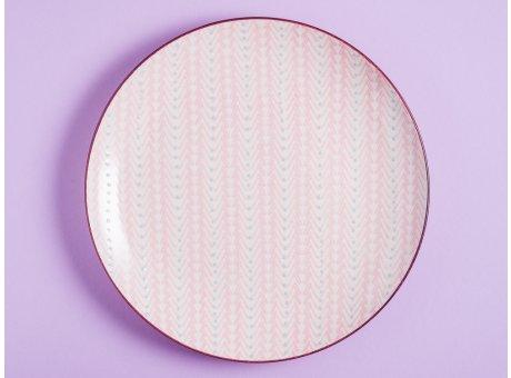 Bloomingville Essteller MAYA Keramik Teller 28 cm Geschirr Speiseteller rosa