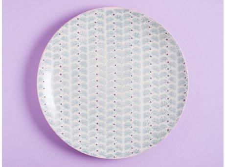 Bloomingville Essteller MAYA Keramik Teller 28 cm Geschirr Speiseteller türkis