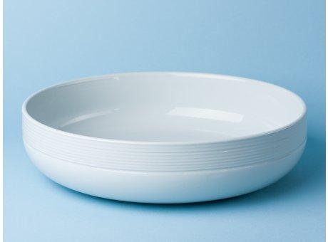 Bloomingville Geschirr Ice Schale groß weiß rund Keramik Servierschale eis blau