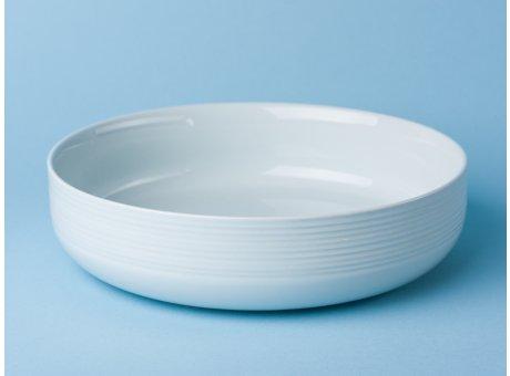Bloomingville Geschirr Ice Schale weiß rund Keramik Servierschale eis blau