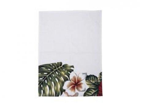 Bloomingville Geschirrtuch Aruba mit Blüten weiß grün rot