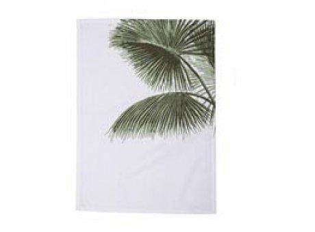Bloomingville Geschirrtuch Aruba mit Palme weiß grün