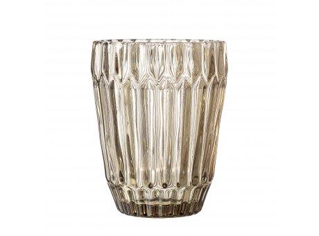 Bloomingville Glas Braun 230 ml Trinkglas schwer und hochwertig