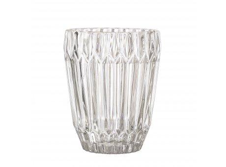 Bloomingville Glas Weiß 230 ml Trinkglas hochwertige schwere Ausführung