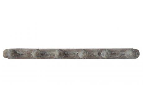 Bloomingville Hakenleiste mit sechs Haken aus Holz Garderobenhaken Pinienholz Kleiderhaken 90 cm