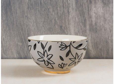 Bloomingville Hannah Schale Keramik Geschirr mit Goldrand