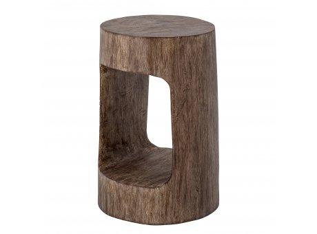 Bloomingville Hocker EDA Holz 30x45 cm Beistelltisch Braun mit Ablage Bloomingville Stuhl Nr 82051691