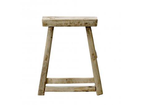 Bloomingville Hocker Forest Stuhl aus recyceltem Holz Unikate