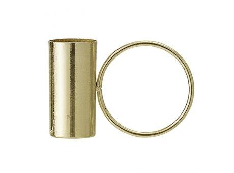 Bloomingville Kerzenhalter gold mit Ring Kerzenständer aus Metall für eine Kerze