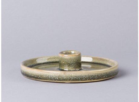 Bloomingville Kerzenhalter grün rund aus Keramik 14,5cm Kerzenteller