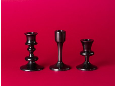 Bloomingville Kerzenhalter schwarz drei Kerzenständer im Set